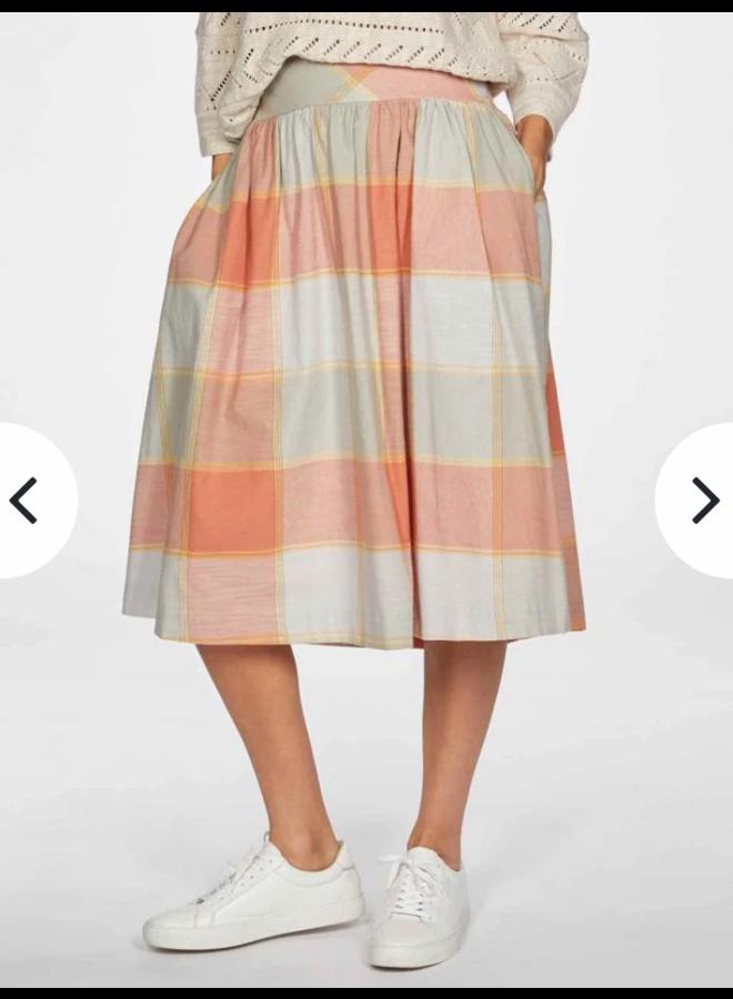 TH Alexa Check Skirt Orange