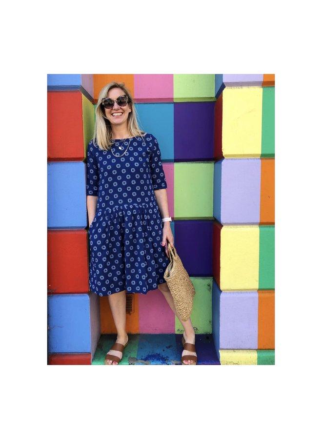 Jaba Tessa Dress in Block Spots