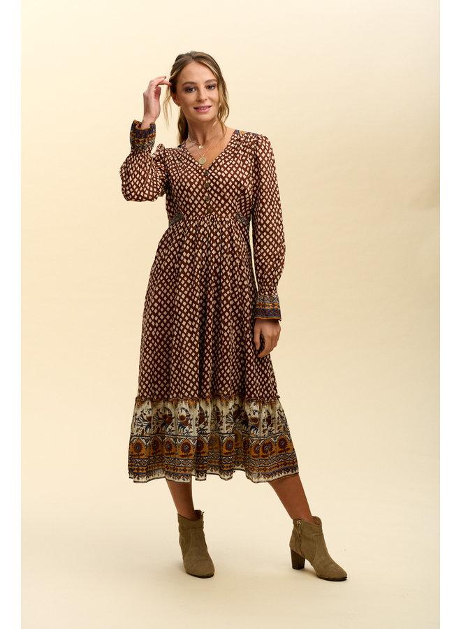 Jaba Freya Dress in Rust