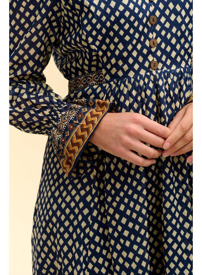 Jaba Freya Dress in Blue