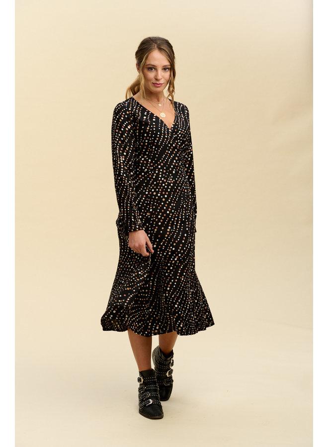 Jaba Roxy Wrap Dress in FallSpots