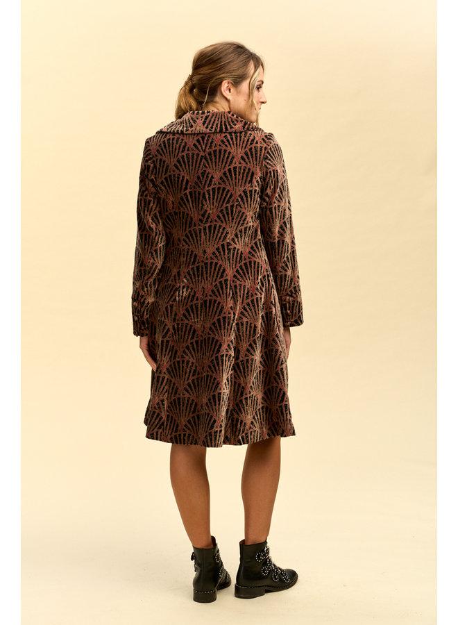 Jaba Velvet Coat in Shell