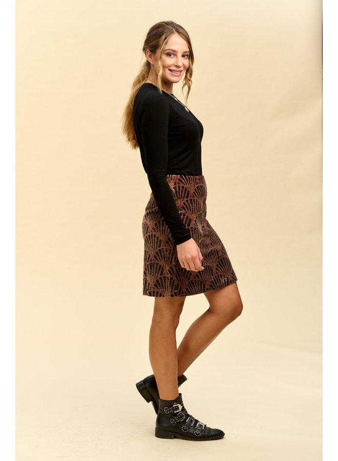 Jaba Velvet Skirt in Shell