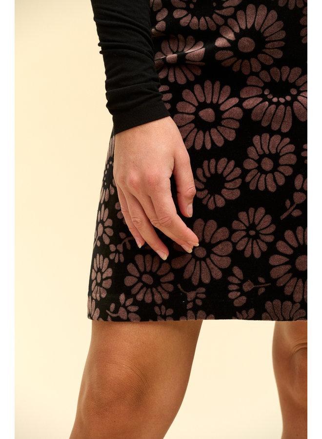 Jaba Velvet Skirt in FallFlower