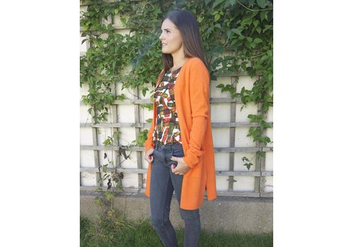 JABA Jaba Cashmere Cardigan in Orange