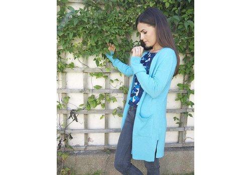 JABA Jaba Long Cashmere Cardi - Turquoise