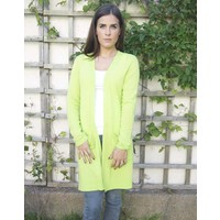 Jaba Pure Cashmere Cardigan in Lime