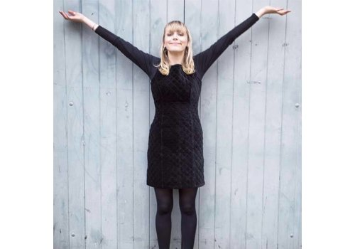 JABA Jaba Mia Dress in Black Velvet