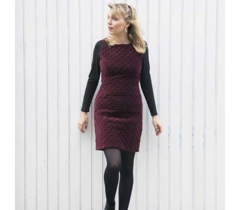 Jaba Mia Dress in Wine Velvet