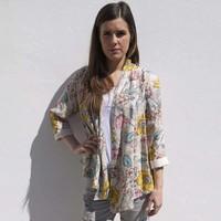 Jaba Loose Jacket in Meadow Print