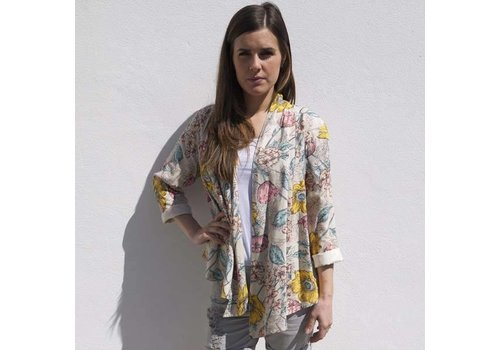 JABA Jaba Loose Jacket in Meadow Print