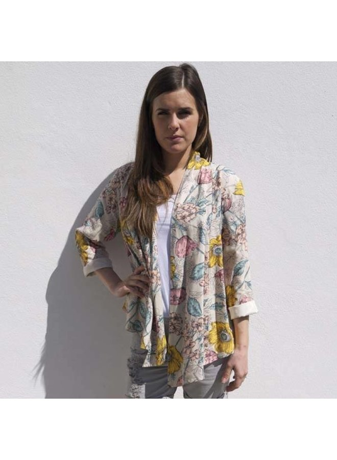 Jaba Loose Jacket in Meadow Print