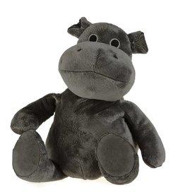 Pelucho Lavendel warmteknuffel nijlpaard donkergrijs