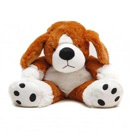 Pelucho Lavendel warmteknuffel hond bruin/wit