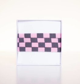 Rosa-Grau gestreift