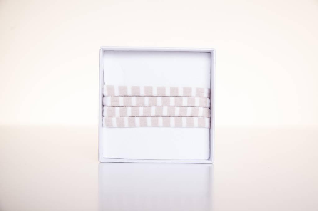 Beige-white striped