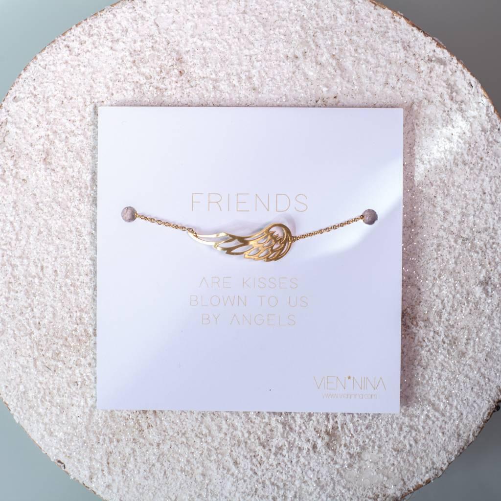 """FRIENDS """"ANGEL"""" Armkettchen gold"""