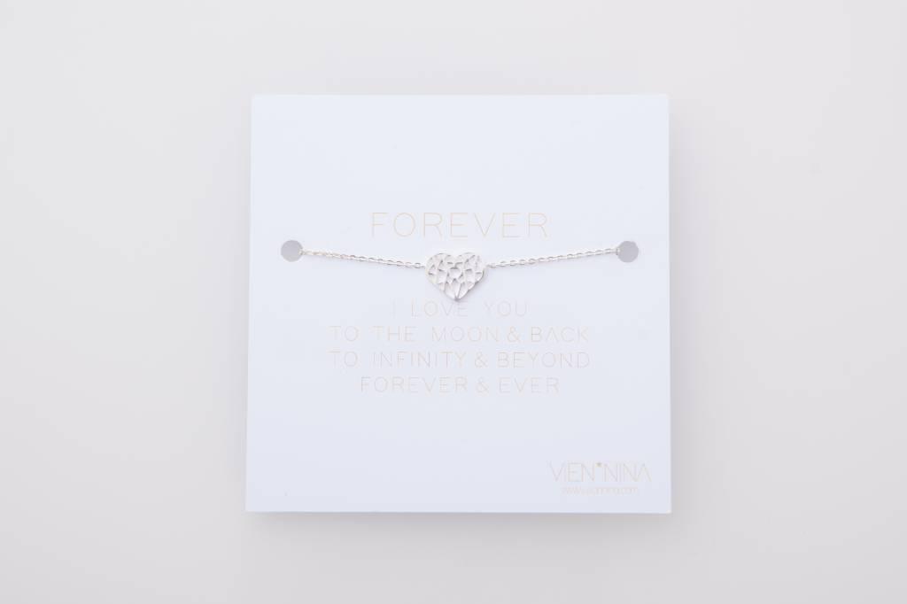 Ornament Heart bracelet silber