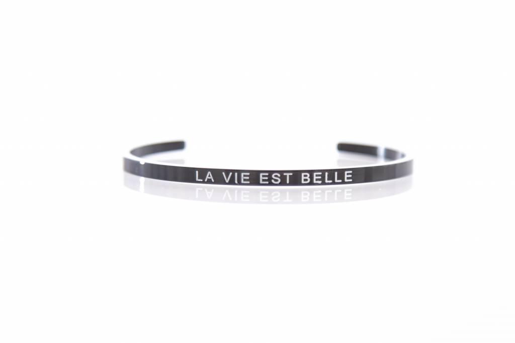 """""""LA VIE EST BELLE""""  - Bangle BLACK"""