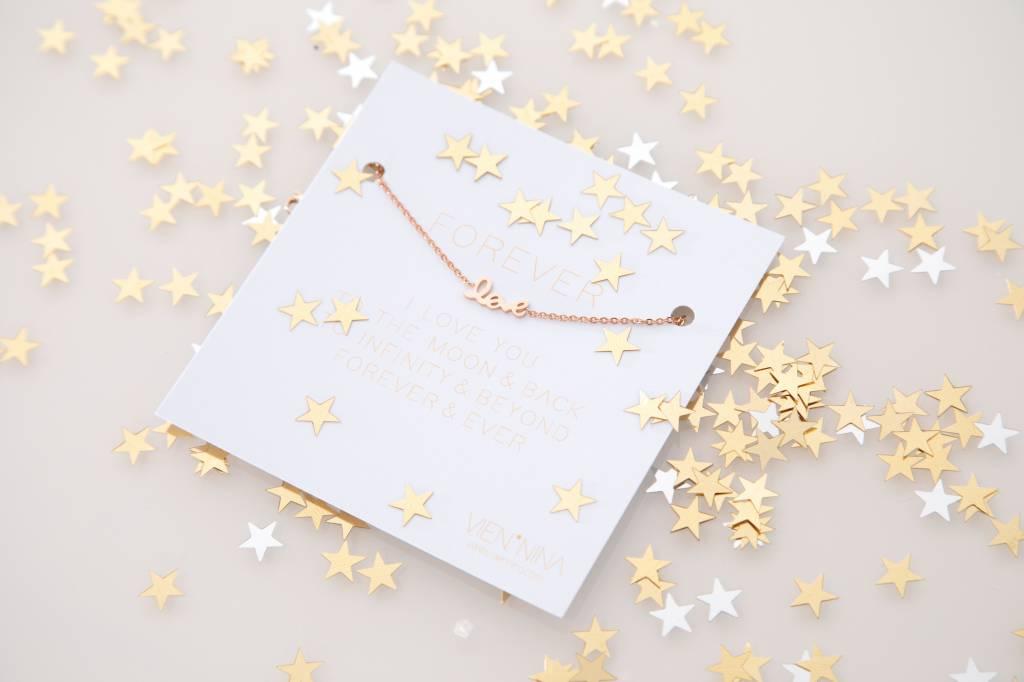 """FOREVER """"LOVE"""" - Bracelet rosegolden"""