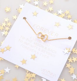 "FOREVER ""HEARTS"" - bracelet golden"