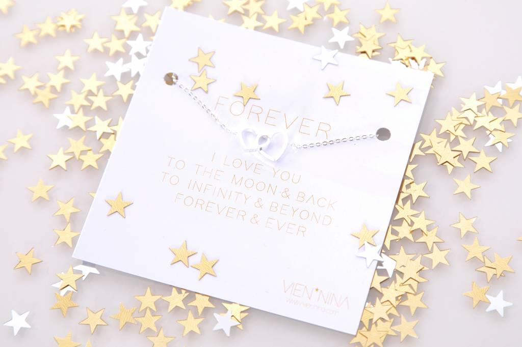 """FOREVER """"HEARTS"""" - Armkettchen silber"""
