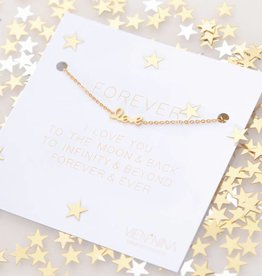 "FOREVER ""LOVE"" - Bracelet golden"
