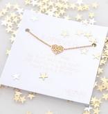 MYSTIC-HEART bracelet golden