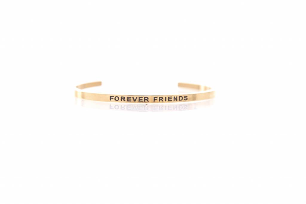 """FOREVER FRIENDS"" Bangle -GOLDEN"