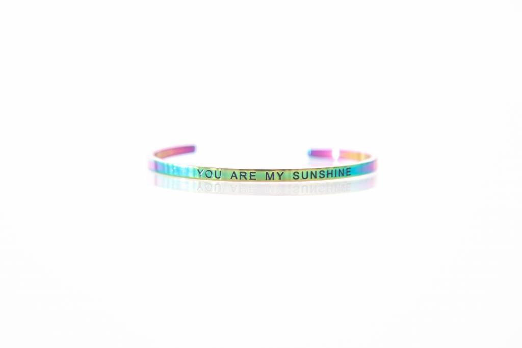 """YOU ARE MY SUNSHINE"" - Armreifen RAINBOW"