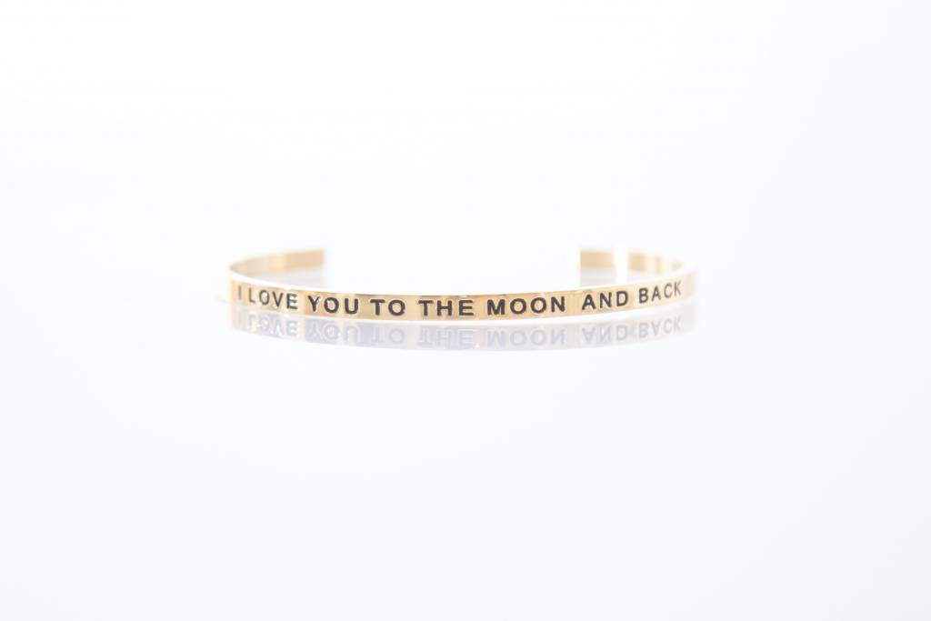 """I LOVE YOU TO THE MOON AND BACK"" Bangle GOLDEN"