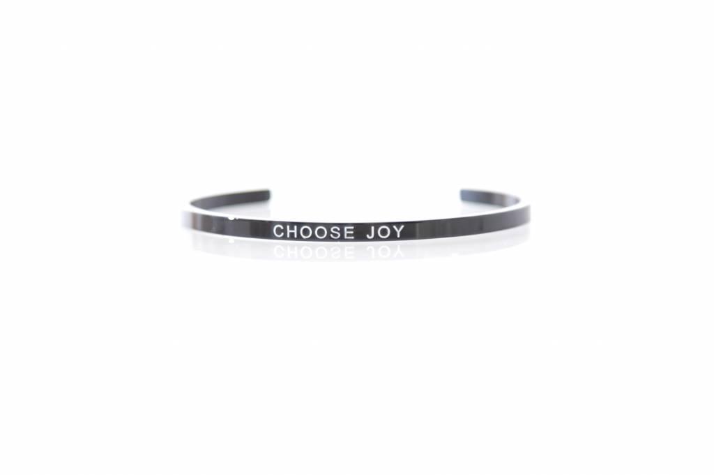 """""""CHOOSE JOY"""" - Bangle BLACK"""