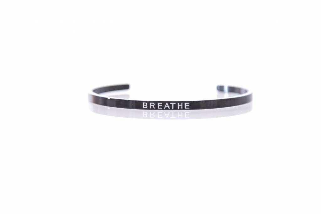 """BREATHE"" Bangle - BLACK"