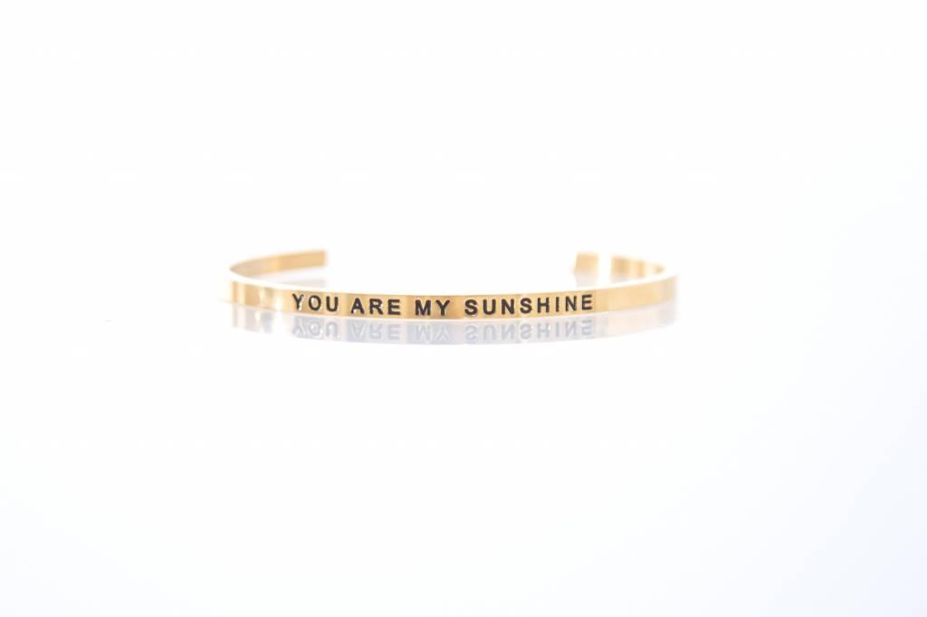 """YOU ARE MY SUNSHINE"" -  Armreifen GOLD"