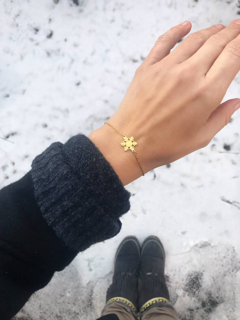 SNOWFLAKE Armkettchen GOLD