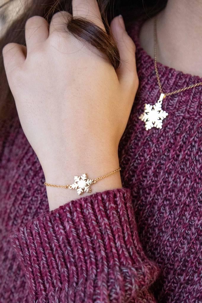 SNOWFLAKE - Halskette gold