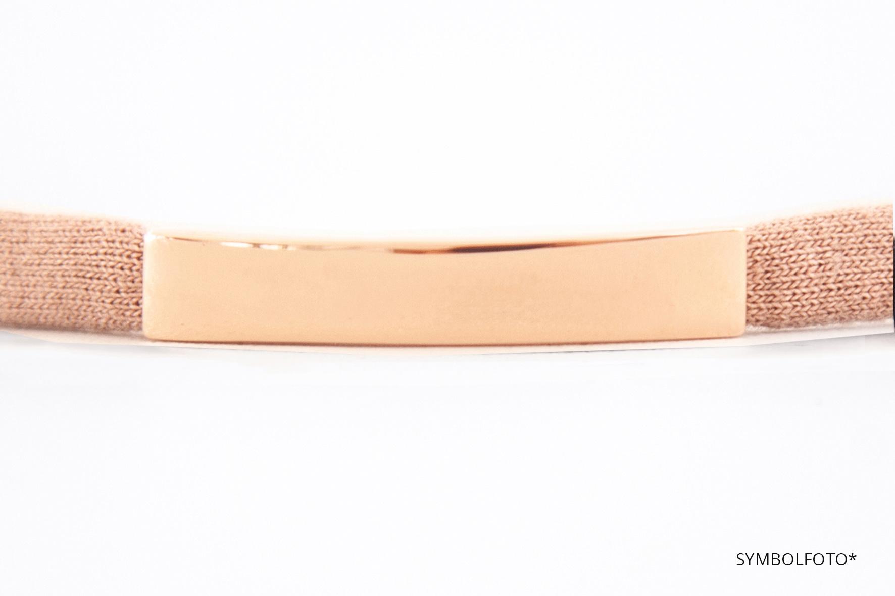 PERSÖNLICHE GRAVUR/ rosegold glossy /N*dividual