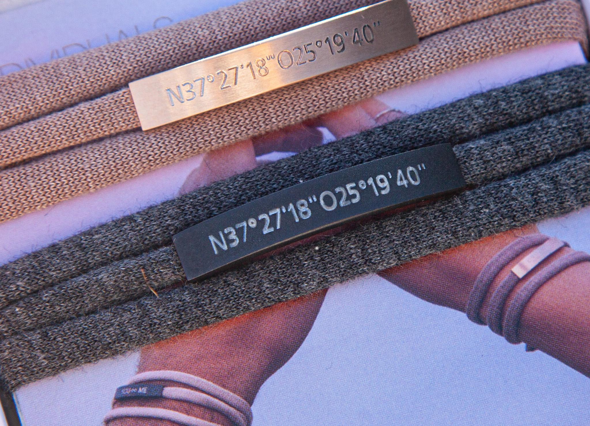 PERSONAL COORDINATES ENGRAVING/ silver matt / N*dividual