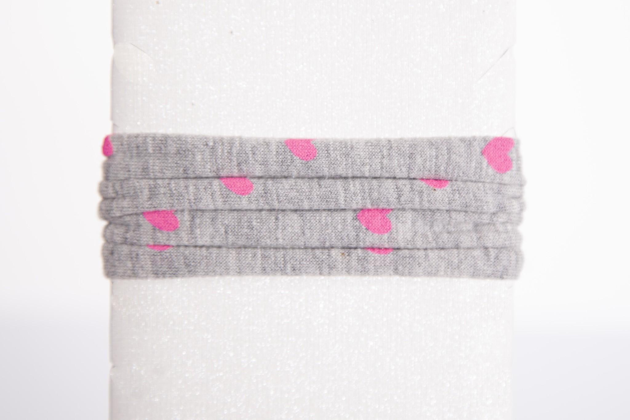 Grau & Pink Hearts