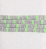 Gestreift Neon Grün & Grau