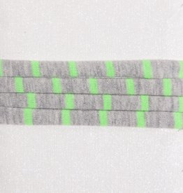 Striped Neon Green & Grey