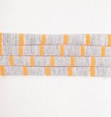 Striped Neon Orange & Grey