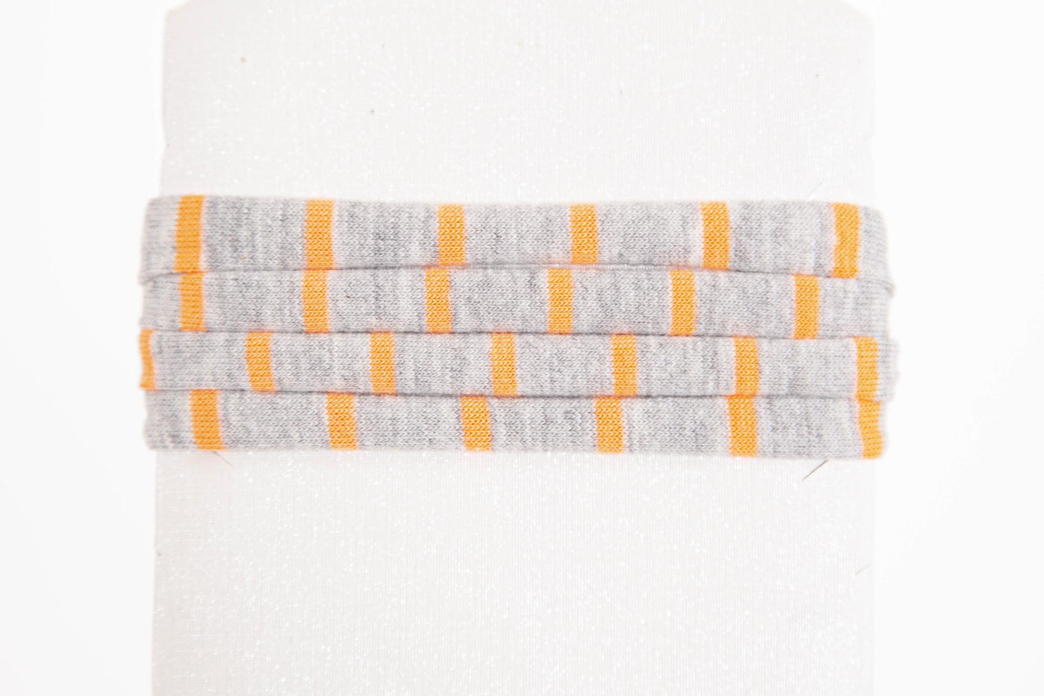 Gestreift Neon Orange & Grau