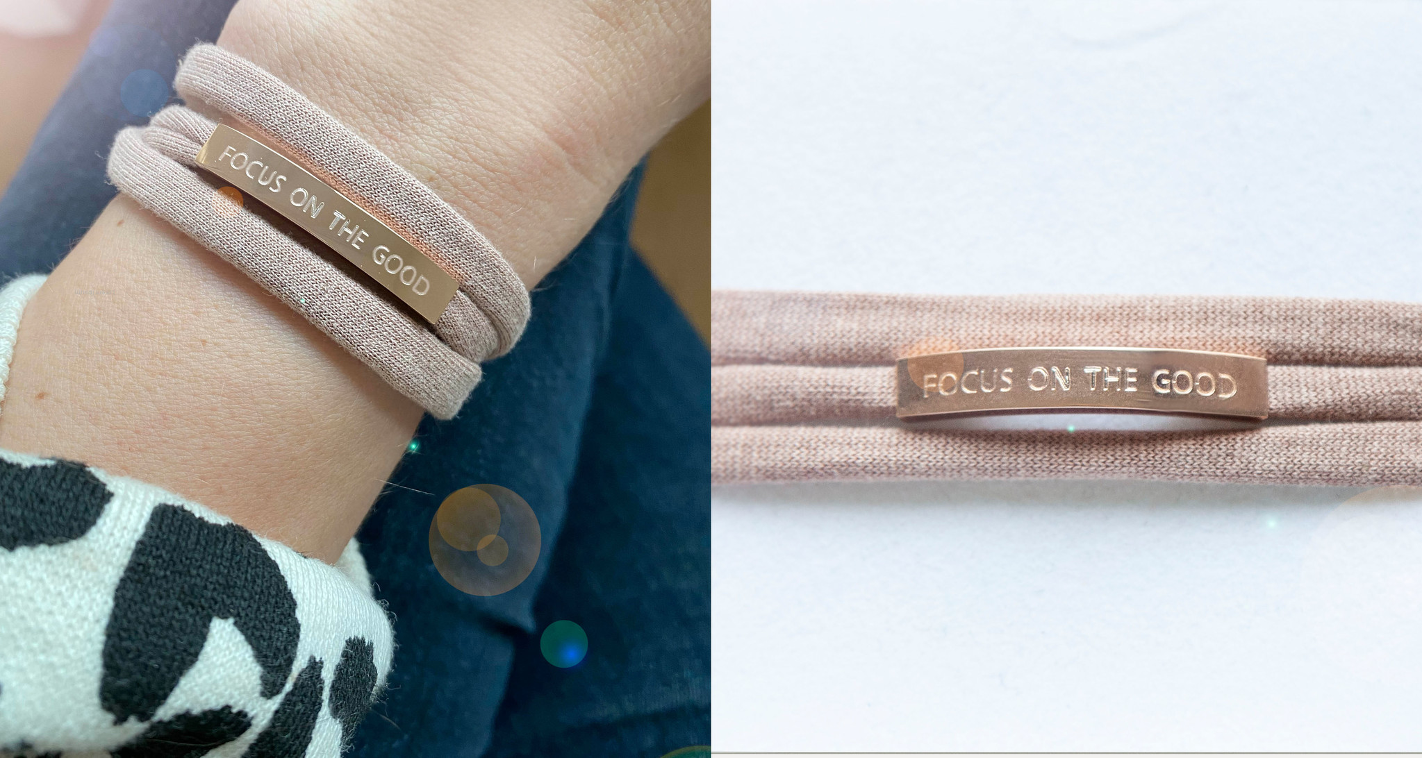 """""""FOCUS ON THE GOOD"""" rosegold glossy"""