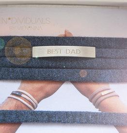 """BEST DAD"" silver matt / N*dividual"