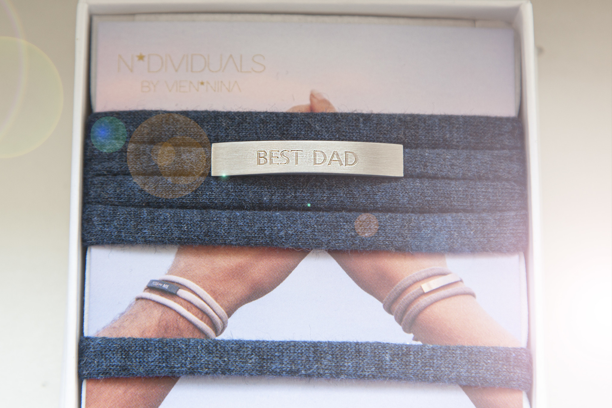 """BEST DAD"" silber matt / N*dividual"