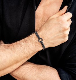 "ARMBAND/ klein schwarz matt /  ""MADE WITH LOVE BY VIENNINA"" / N*FINITY"