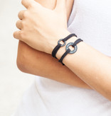 "BRACELET/ small black matt/ ""MADE WITH LOVE BY VIENNINA"" / N*FINITY"