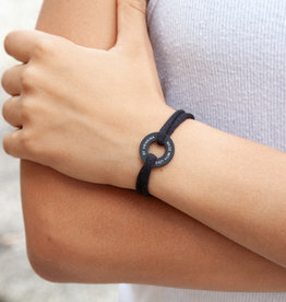 "BRACELET / large black matt/ ""MADE WITH LOVE BY VIENNINA / N*FINITY"