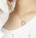 """HALSKETTE/ groß rosegold glossy """"MADE WITH LOVE BY VIENNINA"""" / N*FINITY"""